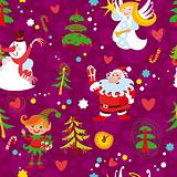 Christmas seamless wallpaper pattern, New Year's background
