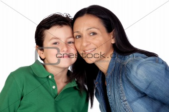 Adorable mother and her beautiful son