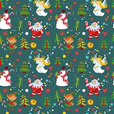 New Year's background, Christmas seamless wallpaper pattern