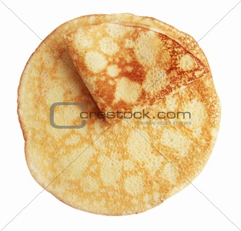 two fried pancake