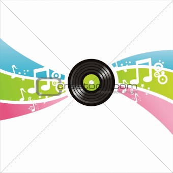 musical vinyl record background