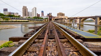 Railroad Tracks in Saint Paul