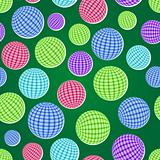 seamless pattern set with striped balls