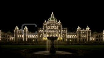 Water Fountain by Parliament Buildings in Victoria BC