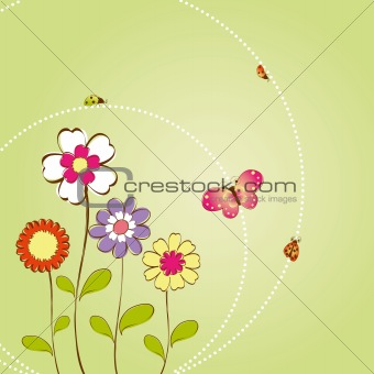 Springtime flower greeting card