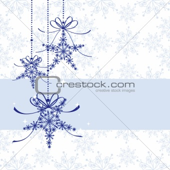 Abstract sparkling Christmas seamless pattern greeting card