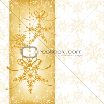 Abstract elegance Christmas snowflake seamless pattern
