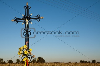 Cross on the crossroad.