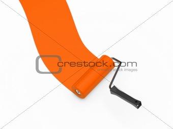 paint roller orange