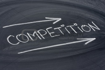 competition, word on blackboard