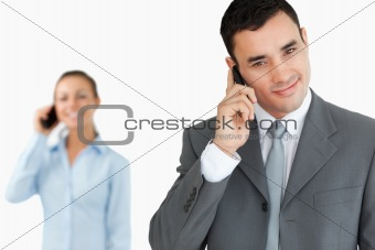 Business partners on the phone