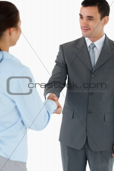Business partners agreeing on a deal