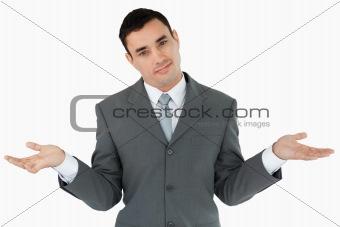 Businessman clueless