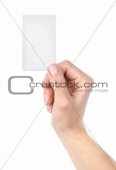 Card blank isolated