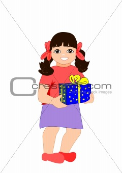 Girl with Parcel