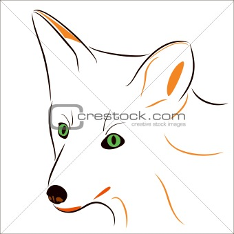 fox, carnivorous rational animal, a symbol of ingenuity and elegance. a wild animal.