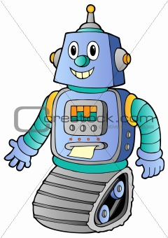 Cartoon retro robot 1