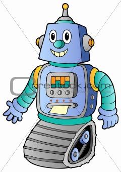 Cartoon retro robot 1