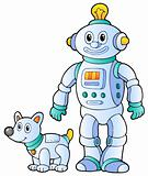 Cartoon retro robot 2