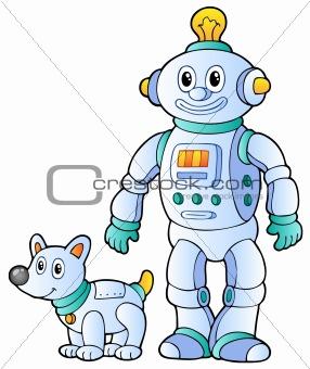 Cartoon retro robot 2