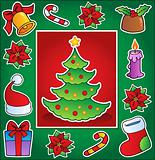 Christmas theme greeting card 1