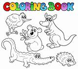 Coloring book Australian animals 1