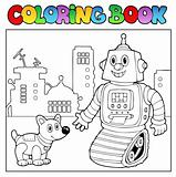 Coloring book robot theme 2