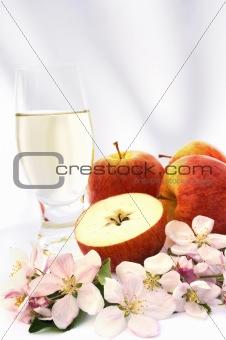 Cider and apple - still life