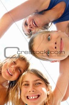 happy children at the beach