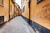 street in old town Galma Stan, Stockholm