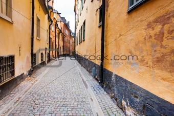 street in old town Galma Stan, Stockholm