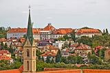 Zagreb rooftops and church tower