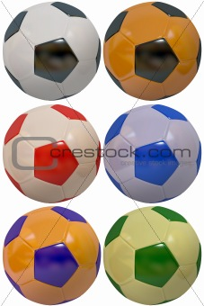 footballs isolated