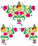 Tropical Floral Borders – Retro