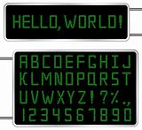 Vector Green Digital Font