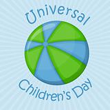 Ball planet, universal children's day