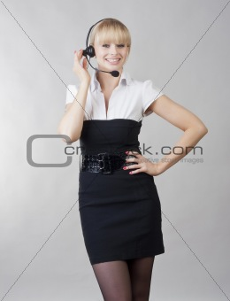beautiful girl - call center operator