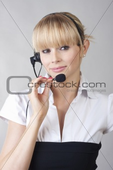 beautiful girl - call center operator