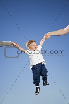 Child in the air