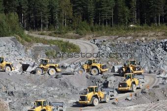 Group of Trucks