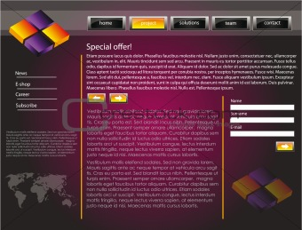 Web site design template 48