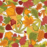 Autumn leaves background seamless