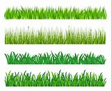 Green grass elements
