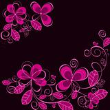Abstract purple flower background