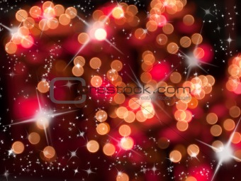 Abstract of red tone bokeh