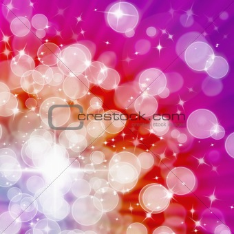 Abstract of Hot tone Aura White bokeh