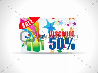 abstract magical discount card