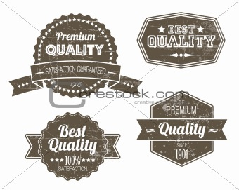 Old dark retro vintage grunge labels