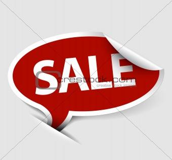 Vector Sale speech bubble
