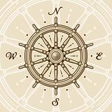 Vintage ship wheel